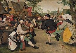 La Danse des paysans  Pieter Brueghel l'Ancien vers 1568..jpg
